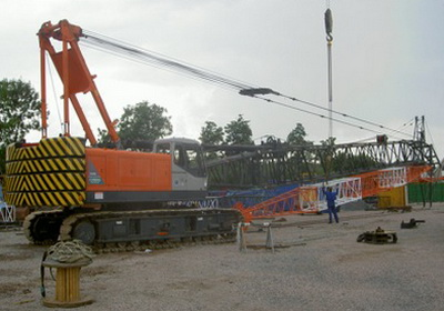 Сборка крана Hitachi CX 900